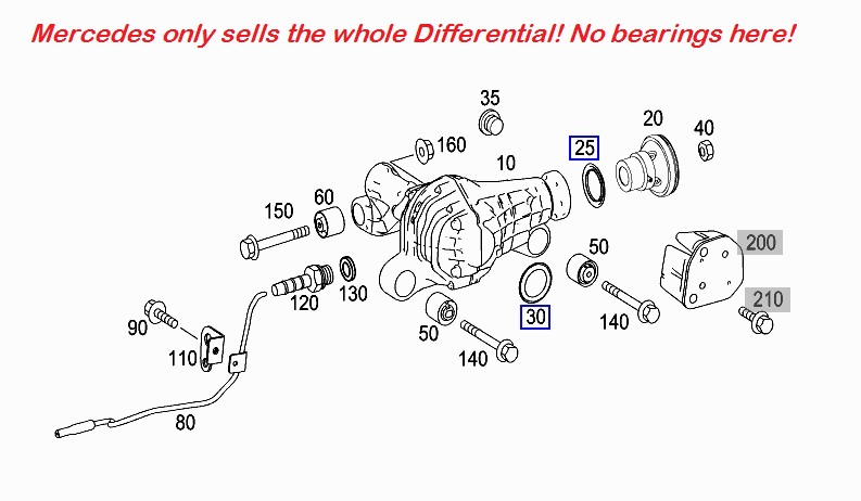 BenzExpert Front Differential Bearings The Problem and the